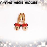 xuping/perhiasan lapis emas anting anak minie mouse