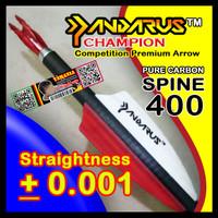 PANDARUS CHAMPION Carbon Spine 400 ID 4.2mm Arrow Anak Panah Pure