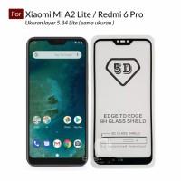 Premium Full Cover Tempered Glass 5D Xiaomi Mi A2 Lite - Redmi 6 Pro