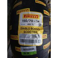 Ban Pirelli For Xmax & Aerox Diablo Rosso Scooter Uk 150/70-14