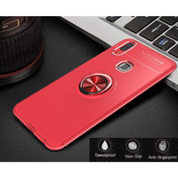 Casing Autofocus Softcase Magnetic Ring Case Vivo V9