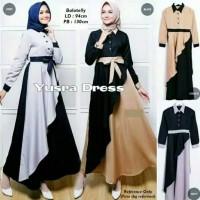 Pakaian Baju Busana Muslim Wanita YUSRA Dress Gamis Termurah Terbaru