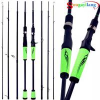 Sougayilang 210 cm Casting Spinning Fishing Rod 4 Section Ultralight