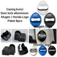 Car door lock & arm cover mobil Honda Brio hrv brv crv mobilio 1 set - HitamHonda