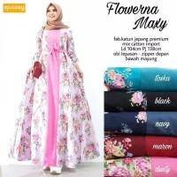 Gamis Bunga Bunga Mewah Gamis Motif Bunga Terbaru 2019