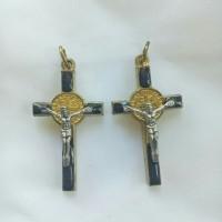 Liontin bandul charm kalung/anting salib yesus kristus model 6