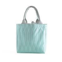 Lunch Bag Alumunium/ Cooler Bag/Tas Bekal Motif Tote Geometri Serut