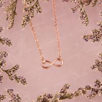 Bauble Bible Mini Infinity Necklace Rose Gold Perhiasan Kalung