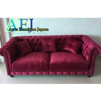 SOFA CHESTERFIELD BUTTON SOFT (kursi sofa modern empuk bludru)