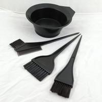 Mangkok cat/Wadah semir rambut tempat bleaching 4 in 1 plus kuas/sikat