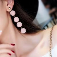 Anting Korea PomPom Long Temperament Earrings DES837