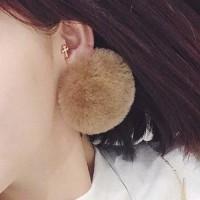 Anting Korea PomPom Ear Clip No Needle OKT508