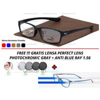 (PAKET Kacamata Minus Lensa Transition + Anti Blue Ray) Puma Bee Sport