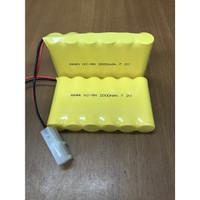 Baterai RC Rakit 6 Soket 2 putih 7.2V 2000Mah Baterai Mobil Mainan