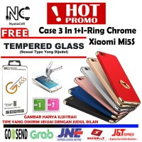 HOT PROMO Free Tempered Glass Case 3 In 1 I-Ring Chrome Xiaomi Mi5S Mi