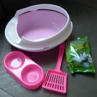 Bak Pasir Kucing/ Toilet Kucing Paket Komplit