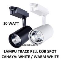 Lampu Track Rell 10W COB Spot Sorot 10 w watt rel trek LED hitam putih