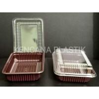MIKA / TRAY BOX BROWNIES / KOTAK BOLU BROWNIS KECIL ( S ) BSM 50 PCS