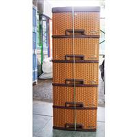 LEMARI LACI ROTAN PLASTIK PAKAIAN NAPOLLY SUSUN 5 KUNCI By gojek Bogor
