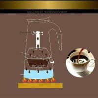 TERMURAH Teko Kopi Moka Pot Stainless Ekspreso Coffe Maker 300 ML 6 Cu