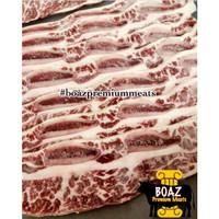 Australia Wagyu Slice Galbi Mb 7-Short Bone in-Iga Sapi-Premium Cut