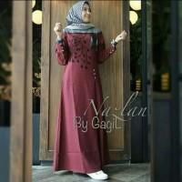 Pakaian Baju Busana Muslim Wanita NAZLAN Dress Maxi Gamis Termurah