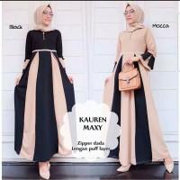Pakaian Baju Busana Muslim Wanita Maxi Dress KAUREN Gamis Terbaru