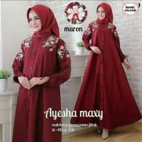 Baju Pakaian Busana Muslim Wanita Dress AYESHA Maxi Gamis Terbaru