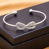 gelang infinite diamond simple open bracelet jge080