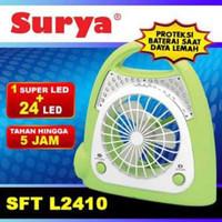 Kipas Portable Mini + Lampu Emergency Charge Surya SFT-L2410