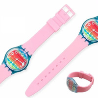 Tali Jam Silikon SWATCH 20MM Rubber Silicone Sport Strap Watch Band