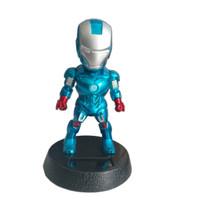 Boneka Hiasan Dashboard Boneka Kepala Goyang Avengers IRONMAN BIRU
