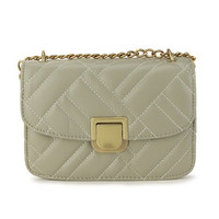 London Berry By Huer Rala Quilted Flap Sling Bag(9440-062)Green