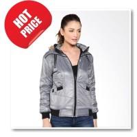 Jaket Parasut Bulu Hoddie - Grey termurah