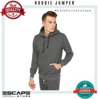 Jaket Sweater Polos Hoodie Jumper Distro ABU TUA murah
