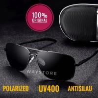 Kacamata hitam original polarized UV400 antisilau siang pria wanita
