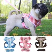 Harnes anjing kucing baju tali tuntun hewan harnes Dog Brothers Size S