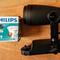 lampu cafe rel PHILIPS 3 set putih berikut LED Philips 4.5w 220v fatro