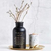 Vas Bunga Dekorasi - Hitam Scandinavian ( Vase Nordic Minimalis )