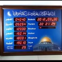 JAM MASJID JAM ADZAN DAN IQOMAH DINDING DIGITAL LED BESAR