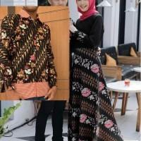 Couple Cp Inneke Busui Baloteli Tebal + Batik Silk Prada Couple Gamis