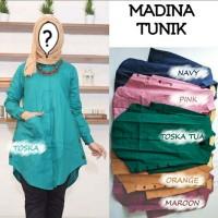 Busana Muslim Baju Atasan Wanita Tunik MADINA Terbaru Termurah