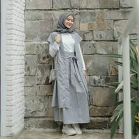 Baju Gamis Wanita Terbaru / Dress Muslim / Setelan Wanita / Arinda Set