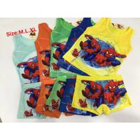 T5561 Kaos Dalam Singlet Anak & Celana Dalam Anak Boxer Spiderman