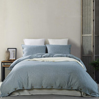 Mukka set of 3 duvet cover Queen Size bed linen microfiber quilt cover