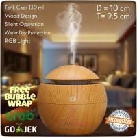 Aromatherapy Air Humidifier Essential Oil Diffuser Motif Kayu Coklat