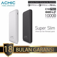 ACMIC C10PRO 10000mAh Power Bank Quick Charger 3.0 + PD Power
