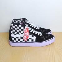 Sepatu Vans Sk8 Checker Board Hitam / Black Premium Import Grade Ori