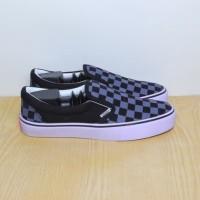 Sepatu Vans Checker Board Slip On Abu / Grey Premium Import Grade ORI