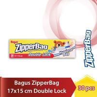 Bagus Zipper Bag Double Lock 17 x 15 cm / Kantong Zipper Isi 30 Pcs